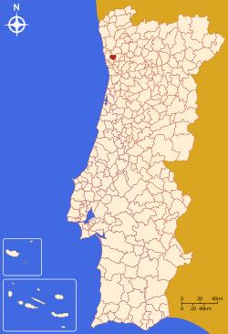 trofa mapa portugal Trofa   Memória Portuguesa trofa mapa portugal
